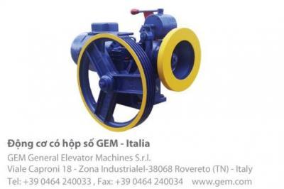 Động cơ thang máy GEM có hộp số Italia